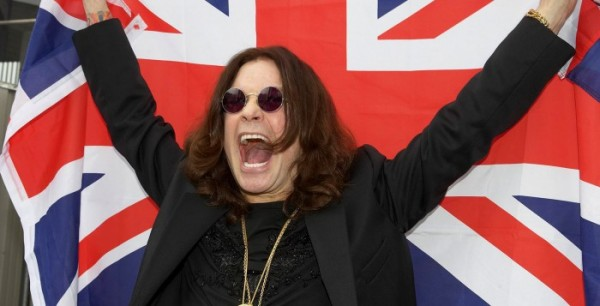 Ozzy Osbourne With The England Flag Wallpaper