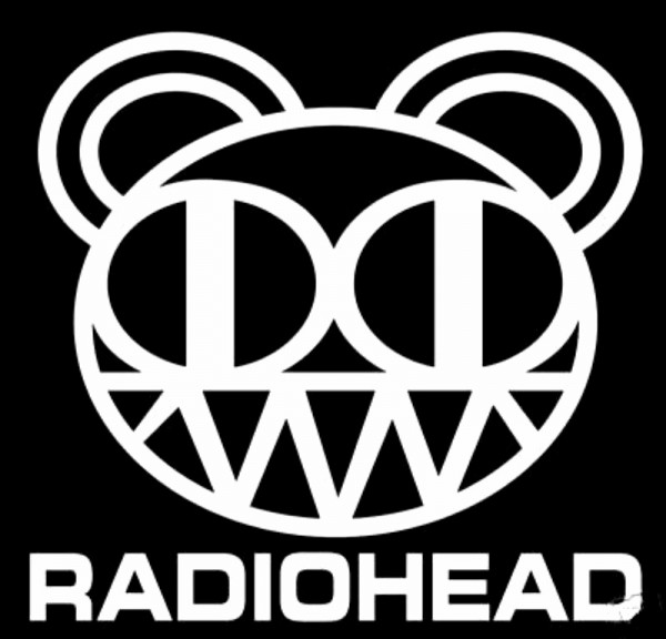 Radiohead Black Logo Wallpaper