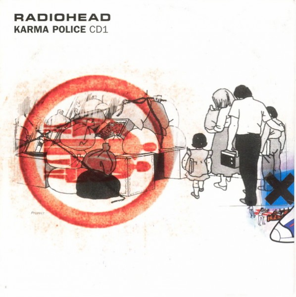 Radiohead Karma Police Single Cover