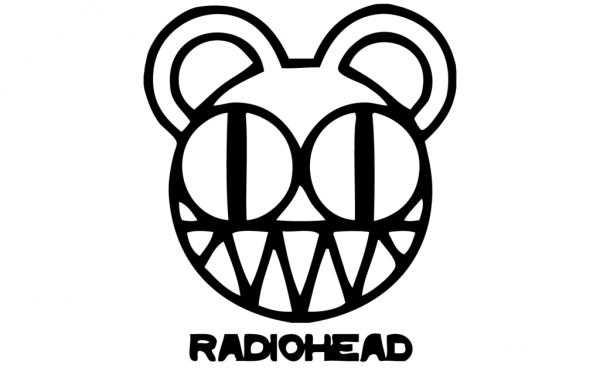 Radiohead White Logo wallpaper