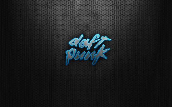 Daft Punk Blue Logo Wallpaper