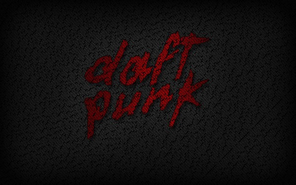 Daft Punk Red Logo Vector Background Wallpaper