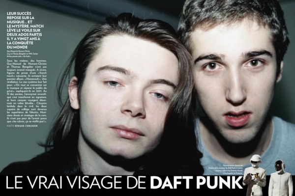 Young Daft Punk Members Without Helmets