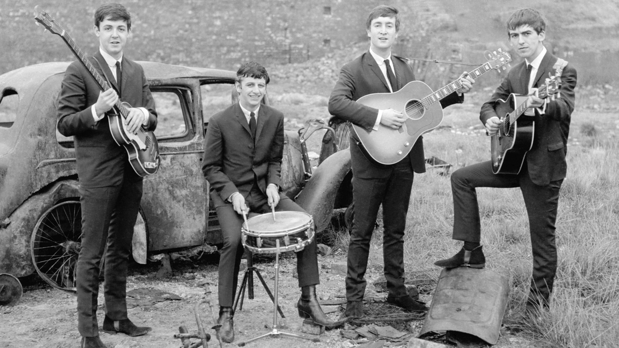 Fab Four Early Years Large Wallpaper