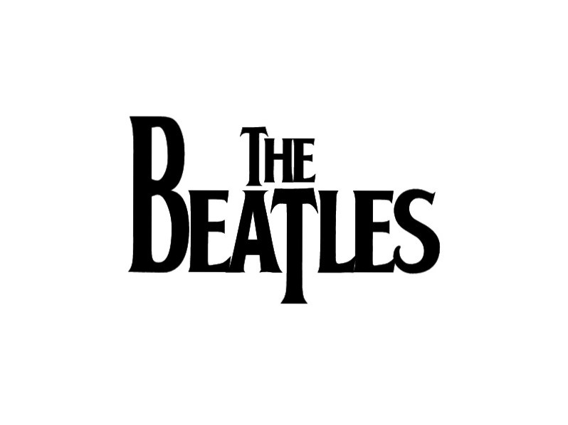 The Beatles White Logo Wallpaper
