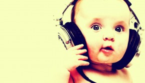 baby headphones wallpaper