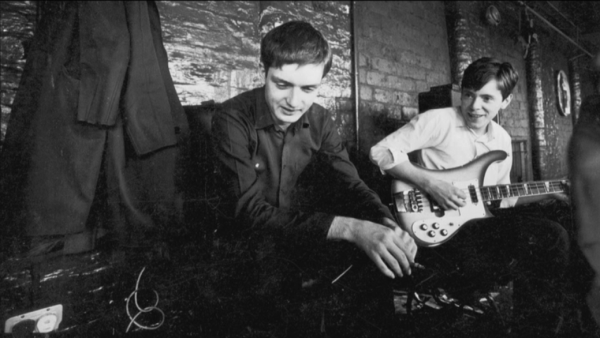 ian curtis and bernard sumner on rehearsal