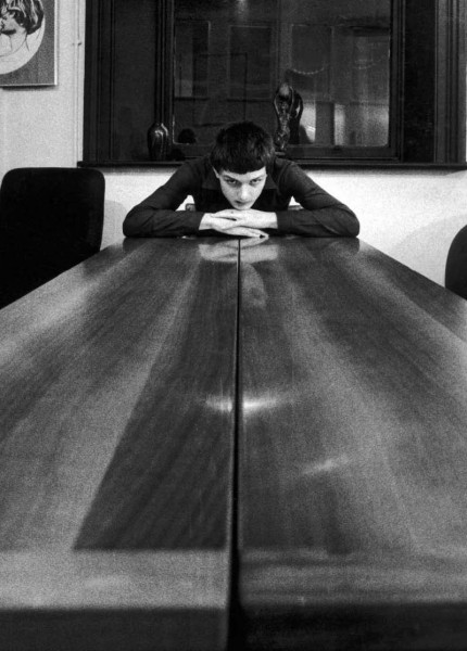 ian curtis rare picture on a large table