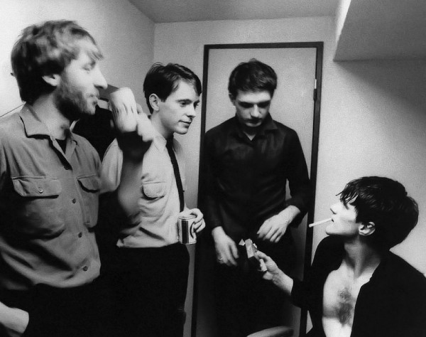 joy division band members backstage photo