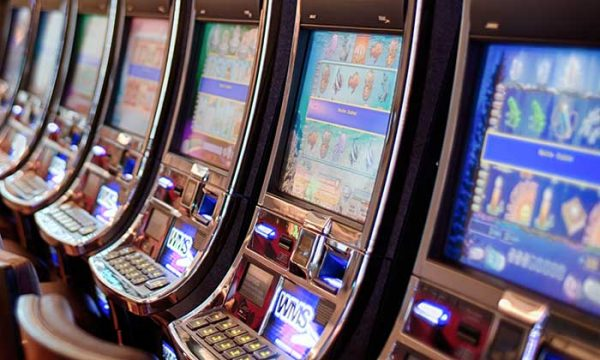 Slot machines in a casino