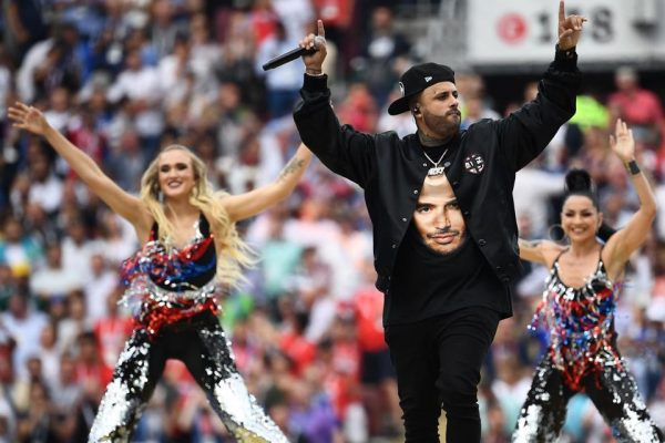 Nicky Jam at the FIFA World Cup 2018 closing ceremony