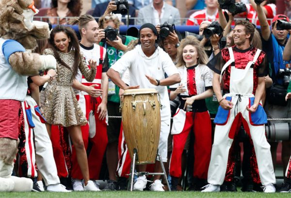 Ronaldinho at the FIFA World Cup 2018 closing ceremony